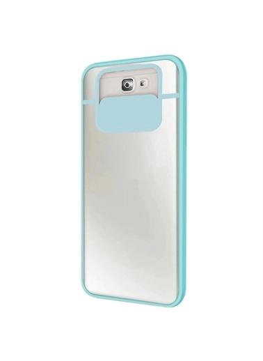Microsonic Samsung Galaxy J7 Prime Kılıf Slide Camera Lens Protection Kırmızı Turkuaz